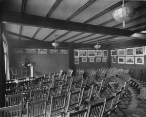 The art gallery and lecture hall