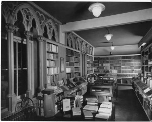 The fine bindings area of the main book room