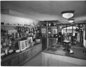 The art room, on the mezzanine (the windows in back are directly over the front entrance)