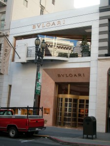 The former Elder bookshop in its 2003 incarnation as a Bulgari store.