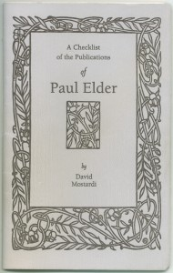 Cover of the first edition checklist.