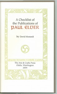 Title page, 2nd edition checklist