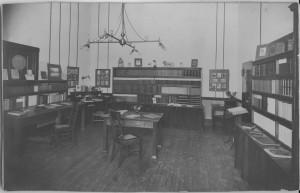 Paul Elder's office inside the Mills Building in 1897.