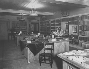"The ""standard authors"" room, in the basement"