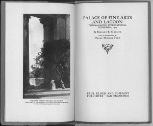 "Frontispiece, ""Palace of Fine Arts and Lagoon"""