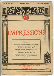 Impressions Oct 1900 cover