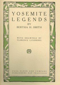 "Title page of ""Yosemite Legends"""