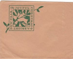 Hyde Christmas envelope