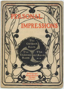 Personal Impressions, August 1900