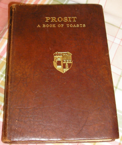 "Alternate leather binding of ""Prosit"""