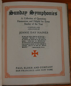 Sunday Symphonies title