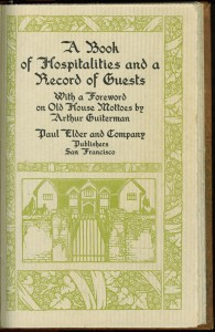 Book of Hospitalities title