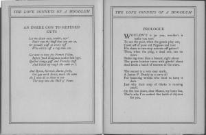 Love Sonnets Hoodlum prologue