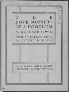 Love Sonnets Hoodlum title