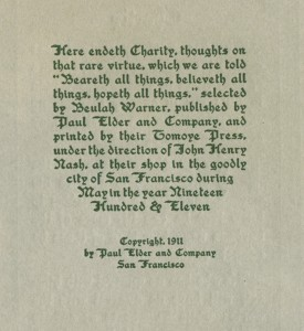 Charity colophon small