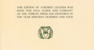 Yosemite Legends colophon