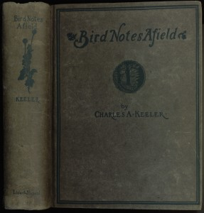 "Cover of the 1899 edition of ""Bird Notes Afield"""