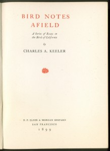 Bird Notes Afield 1ed title