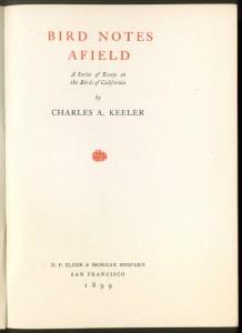 Bird Notes Afield 1ed title