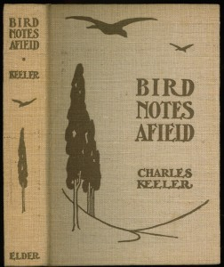 "Cover of the 1907 second edition of ""Bird Notes Afield"""