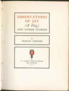 "Title page of ""Observations of Jay"""