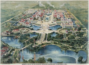Aerial view of the Pan-American Exposition in Buffalo NY
