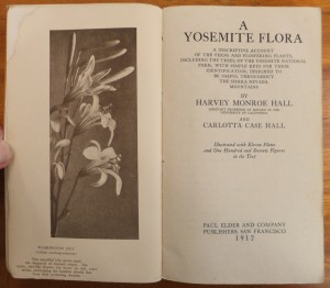 "Frontispiece and title page to ""A Yosemite Flora"""