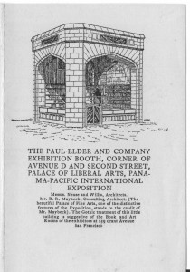 A small advertising pamphlet about the PPIE booth