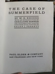 "Title page of ""The Case of Summerfield"""