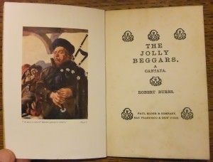 "Frontispiece and title page of ""Jolly Beggars"""