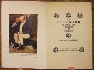 "Frontispiece and title page of ""Mr Pickwick"""