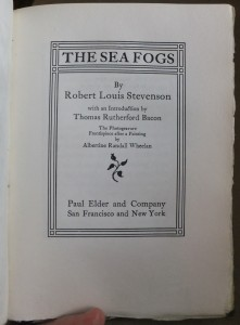 "Title page of ""The Sea Fogs"""