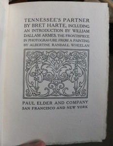 "Title page of ""Tennessee's Partner"""
