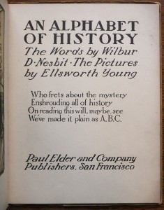 """Title page of """"An Alphabet of History"""""""