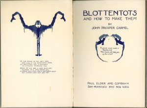 "Frontispiece and title page of ""Blottentots"""