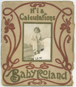 "(Damaged) cover of ""His Calculations,"" Baby Roland booklet #5"