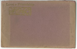 "Matching envelope for ""Love & Friendship"""