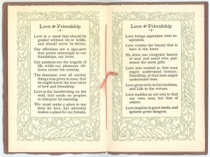 "Pages 4-5 of ""Love & Friendship"""