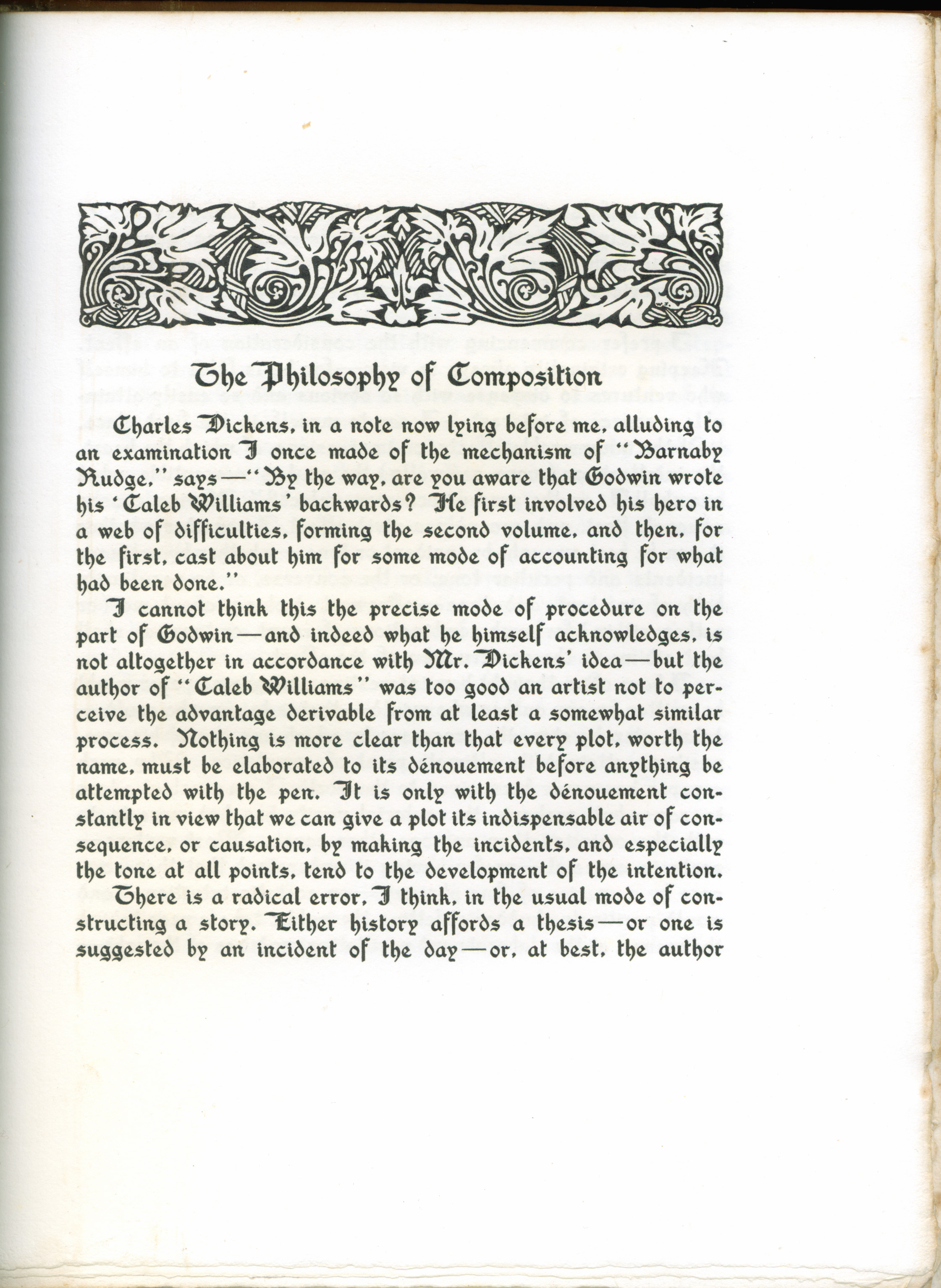 paul elder co the raven 1907 first page of the philosophy of composition