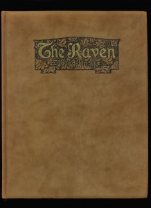 "Fancy suede binding of ""The Raven"""