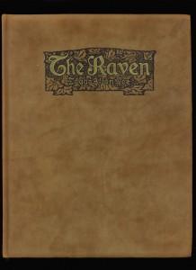 "Fancy suede binding of ""The Raven"""