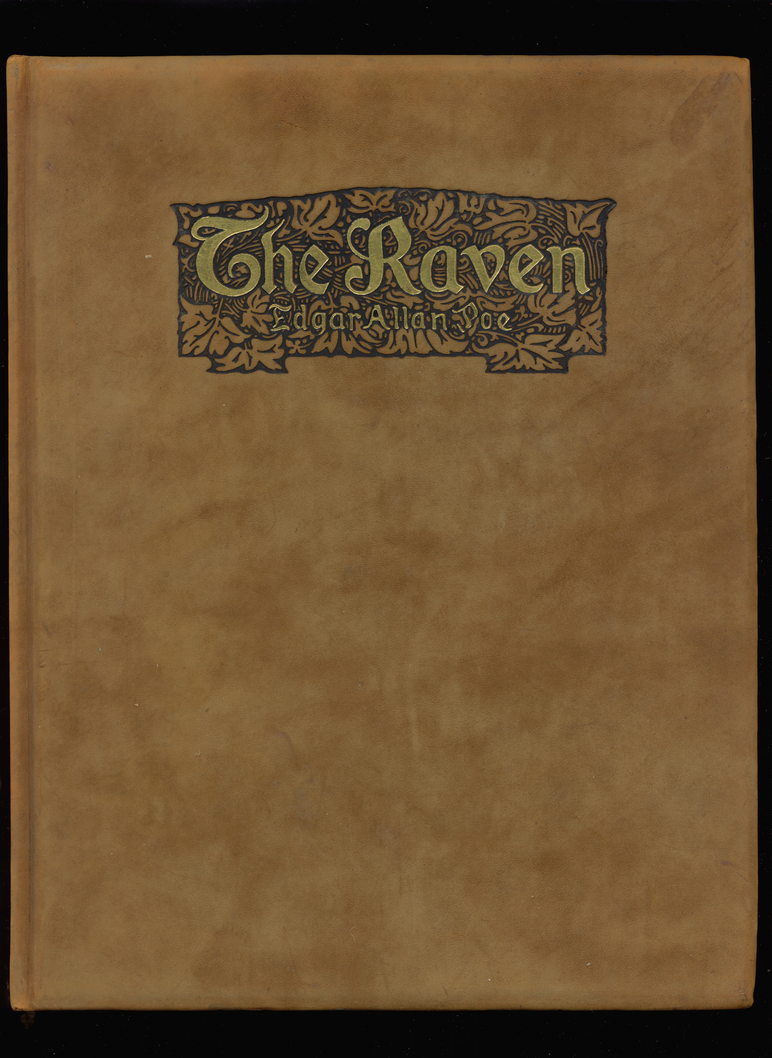 paul elder co the raven  fancy suede binding of the raven