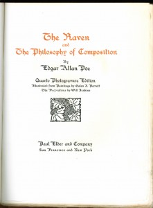 "Title page of ""The Raven"""