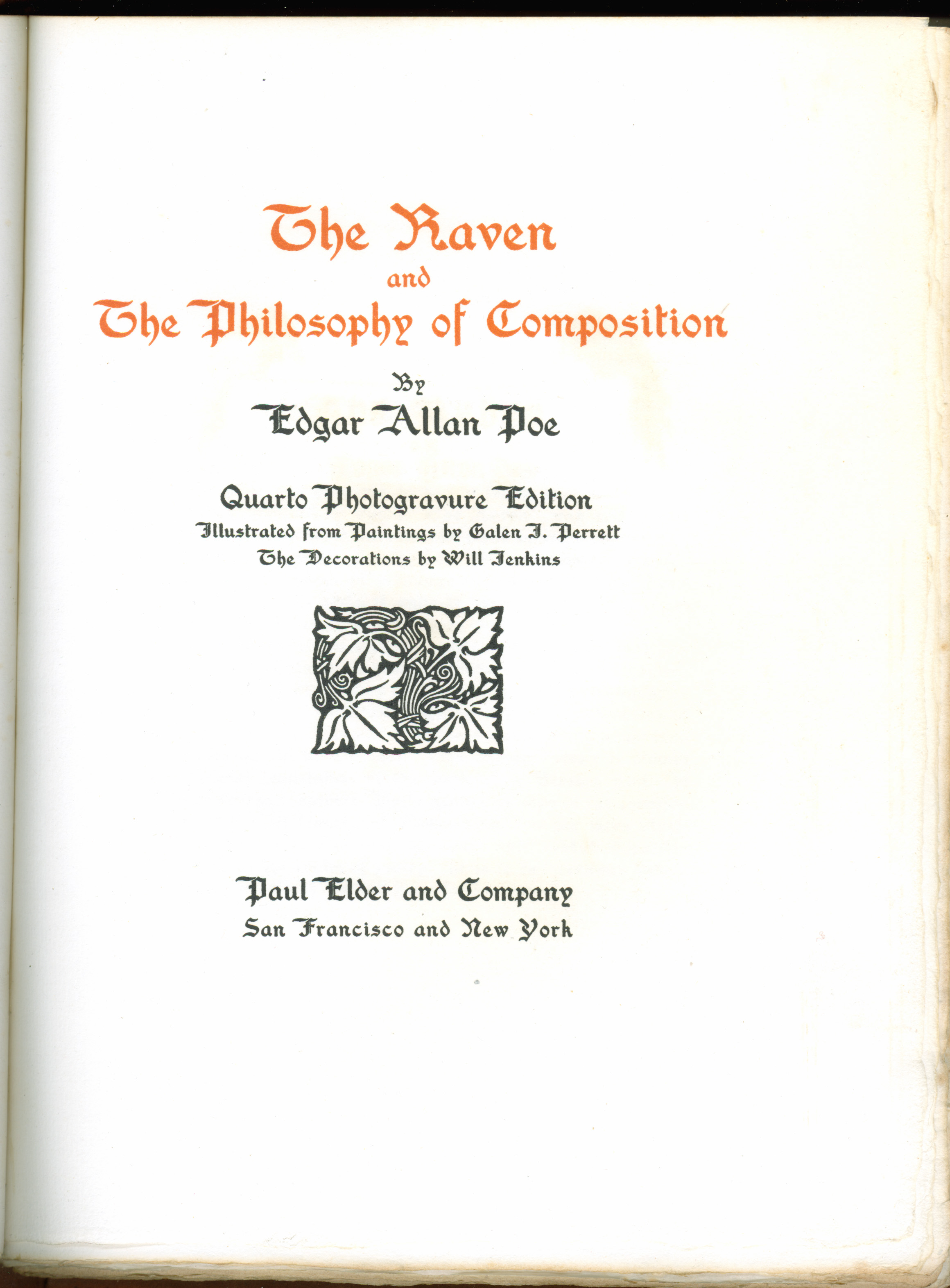 paul elder co the raven 1907 title page of the raven