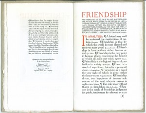 "Page 1 of the 1910 edition of ""Friendship"""