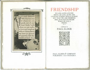 "Title page of the 1910 edition of ""Friendship"""