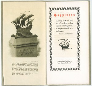 "Title page of Edition B of ""Happiness"""