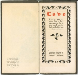 "Title page of ""Love"""