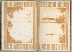 """The decorated endpapers of """"Menehunes"""""""