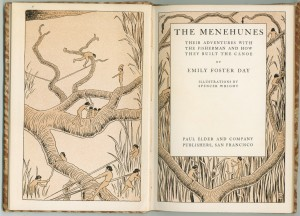 """Frontispiece and title page of """"Menehunes"""""""
